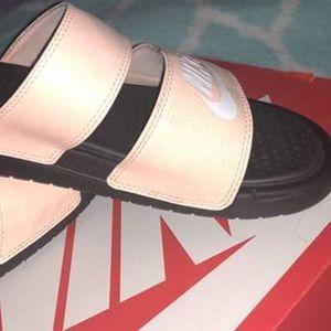 Double strap Nike slides